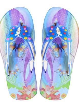 Вьетнамки для девочки butterfly. голубые.