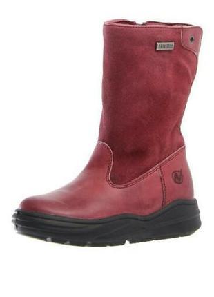 Naturino rainstep кожаные утепленные ботинки