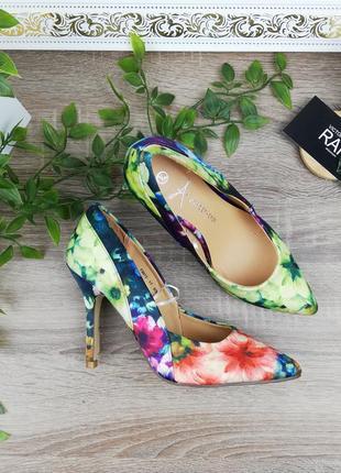 🌿36🌿европа🇪🇺 atmosphere. красивые туфли лодочки в цветочный принт
