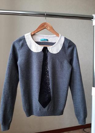 Шерстяной свитер на девочку люкс бренда