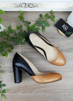 🌿36🌿европа🇪🇺 minozzi. кожа. италия. красивые базовые туфли на удобном каблучке