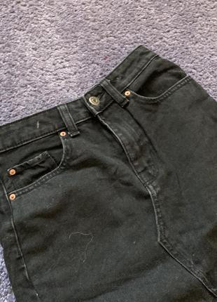 Джинсовая юбка миди2 фото