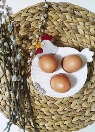 Тарелка для яиц, блюдо, пасхальная посуда, тарелка-курочка.