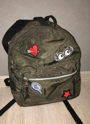 Рюкзак сумка плащевка хаки мини шоппер