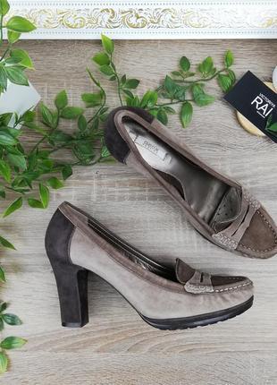 🌿39🌿европа🇪🇺 geox. оригинал. замша. красивые базовые туфли, лоферы на устойчивом каблуке