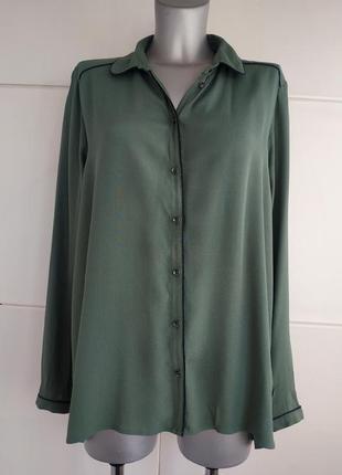 Стильная рубашка tom tailor  зелёного цвета