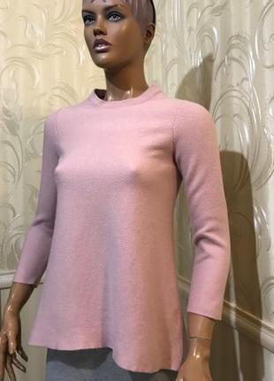 Джемпер пудрового цвета - смесовая шерсть, cos, размер s