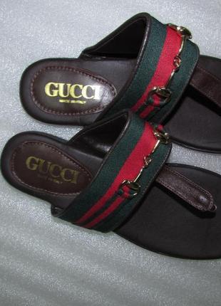 Gucci~ шлёпанцы вьетнамки ~италия р 39-40 новые