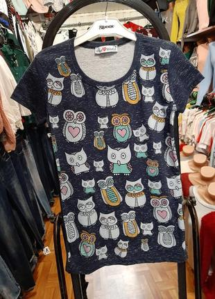 Яркая футболка с совами