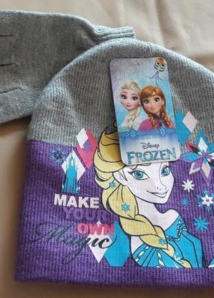 Набор шапка+перчатки анна и эльза холодное сердце