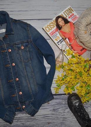 8/38/s h&m обалденный фирменный джинсовый пиджак джинсовая курточка с потертостями