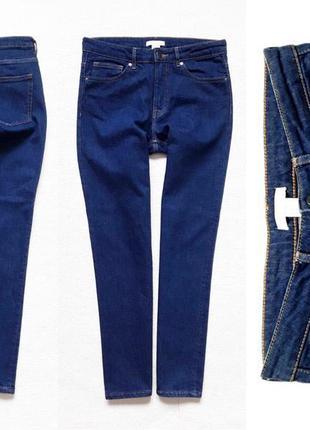 Джинсы прямые с высокой посадкой из плотного стрейчевого джинса от h&m