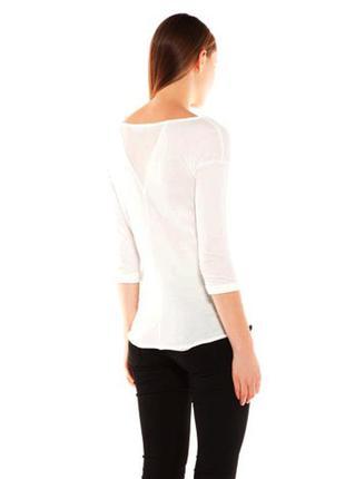 Белый пуловер с принтом bershka, s2