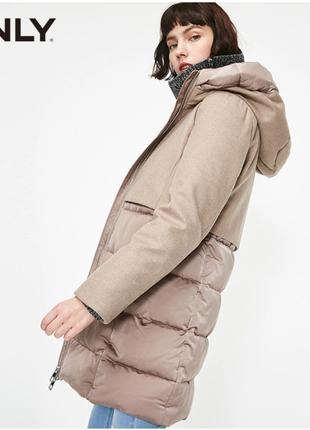 Пуховое пальто от бренда only. цена на бирке 284$