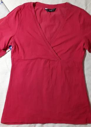 Блуза блузка трикотажная декольте футболка рукав 3\4