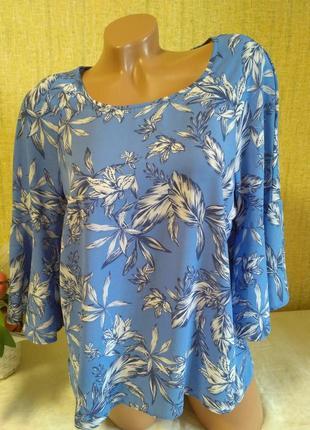Красивая блуза в принт (состояние новой)