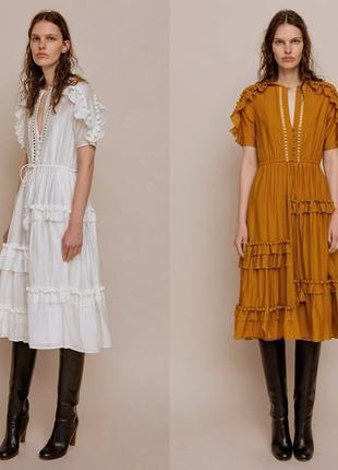 Нереально крутое кружевное платте с карманами sea new york