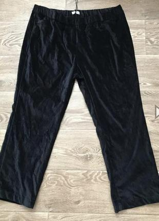 Велюровые штаны батал