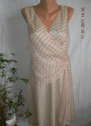 Шифоновое платье в горошек teatro