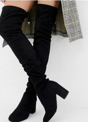 Замшевые сапоги чулки ботфорды ботинки казаки