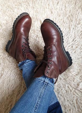 Шикарные качественные кожаные ботинки timberland оригинал как dr. martens
