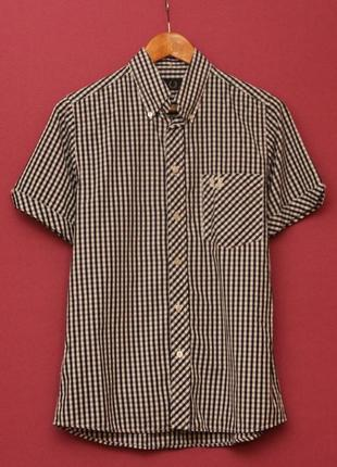 Fred perry s рубашка из хлопка на короткий рукав