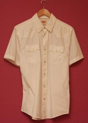 Levis m рубашка из хлопка короткий рукав