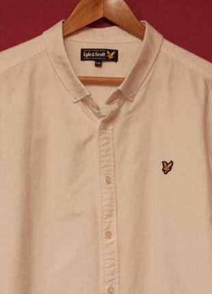 Lyle & scott xxl рубашка из плотного хлопка свежие коллекции