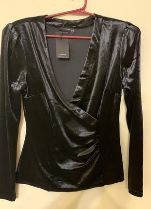 Шикарная бархатная блуза