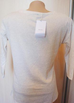 Бежевый пуловер с принтом bershka, m5