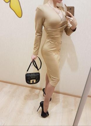 Платье нюд s