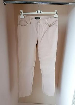 Классические джинсы песочные с высокой посадкой прямые дорогого бренда ralph lauren (к080)