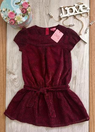 Нарядное велюровое платье для девочки ovs италия