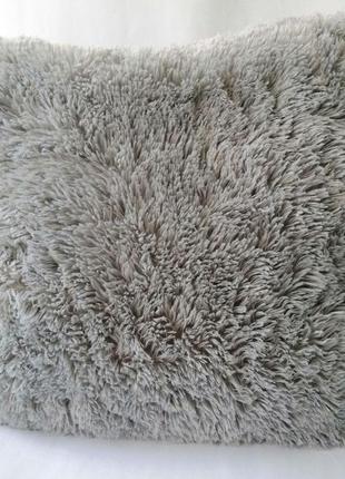 Подушка + наволочка-травка, 50*50 см, серая