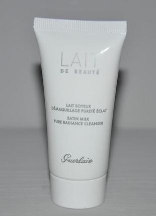 Очищающее молочко для лица guerlain lait de beaute satin milk pure radiance cleanser