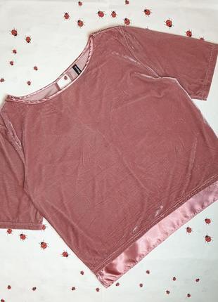 🌿1+1=3 стильная нарядная велюровая розовая футболка оверсайз page one, размер 46 - 48