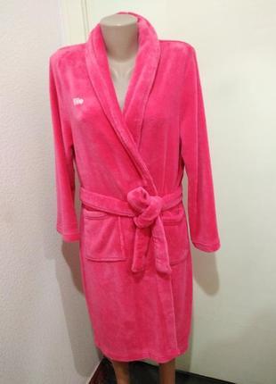 Женский халат розовый