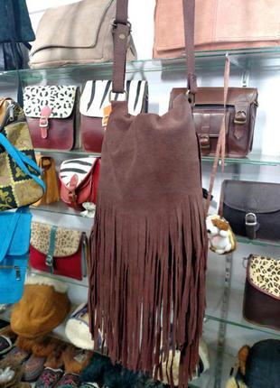 Индийская сумка замшевая1