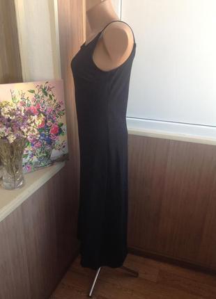 Черное платье миди3
