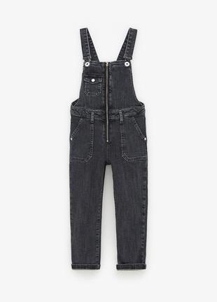 8 лет 128 см фирменный джинсовый комбинезон с молнией зара zara
