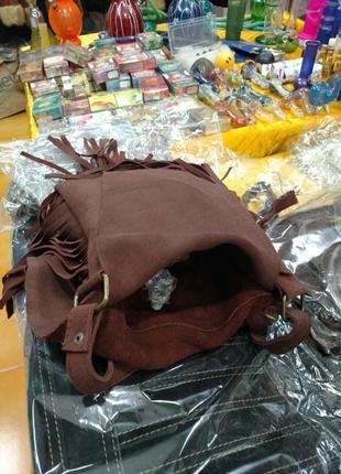 Индийская сумка замшевая3