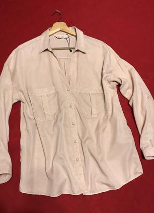 Классная блуза-рубашка овер-сайз