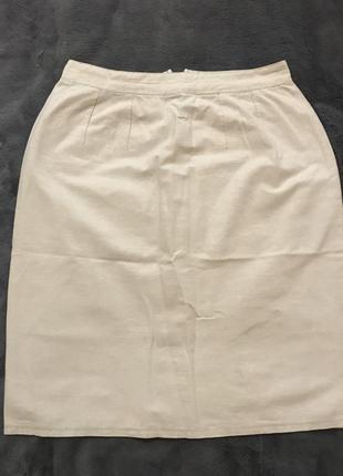 Короткая юбка из лёна (бочка)