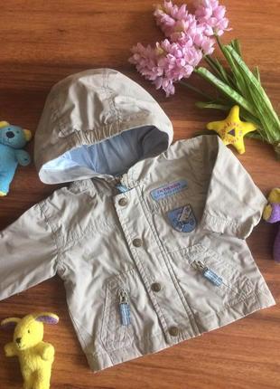 Классная хлопковая ветровка,штурмовка,куртка для малыша st.bernard 0-3 месяца.