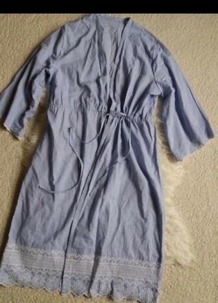 Хлопковый халат на запах m&s