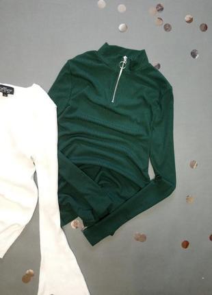 Зеленый гольф с замочкой new look