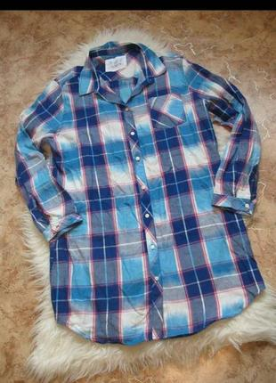 Хлопковое платье-рубашка для сна f&f.