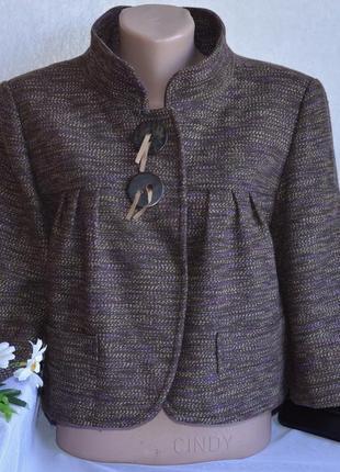 Брендовое демисезонное пальто полупальто пиджак next турция акрил вискоза шерсть