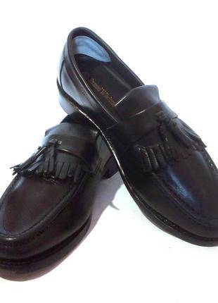 Кожаные мужские туфли лоферы samuel windsor, р.42-42,5 код m4203