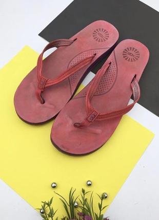 Оригинальные кожаные шлепанцы вьетнамки ugg
